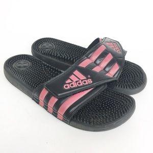 Adidas Women's Size 11 Black Pink Slip-on Slide